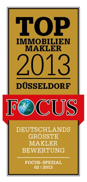Focus zeichnete Tolxdorf Immobilien 2013 als einen der besten 100 Immobilienmakler in Deutschland aus.