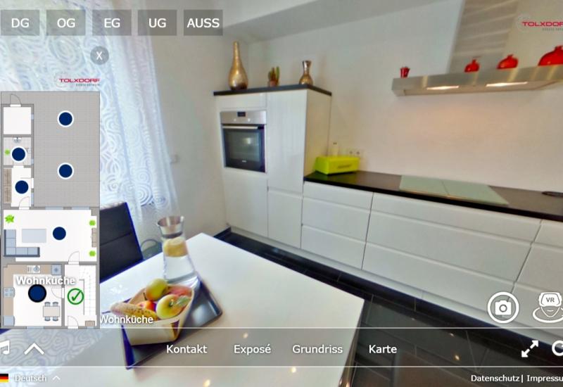 Wir erstellen innerhalb kürzester Zeit eine virtuelle Tour von Ihrer Immobilie.